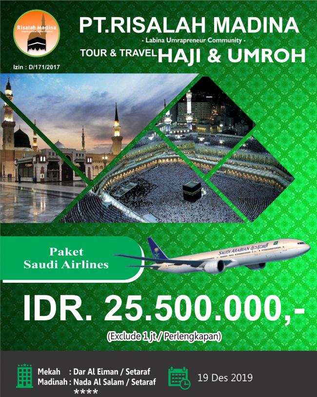 Paket Umroh Desember 2019